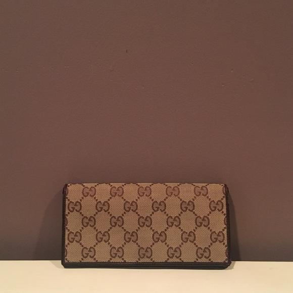 4b6024356104 Gucci Bags | Monogram Canvas Long Leather Wallet | Poshmark